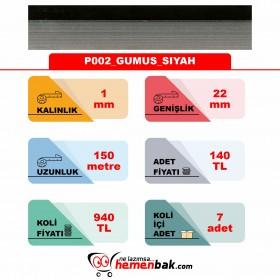 ÇİFT RENK PVC - P002 GUMUS SIYAH