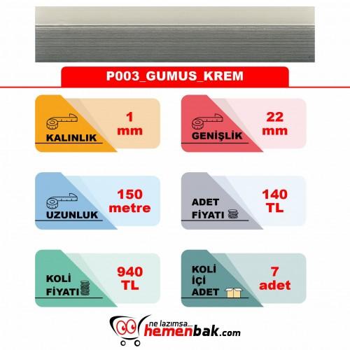 ÇİFT RENK PVC - P003 GUMUS KREM