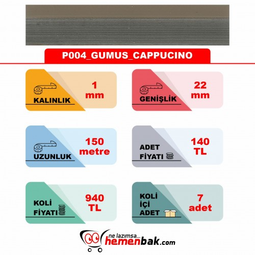 ÇİFT RENK PVC - P004 GUMUS CAPPUCINO