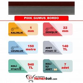 ÇİFT RENK PVC - P006 GUMUS BORDO