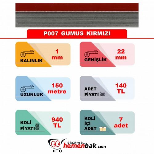 ÇİFT RENK PVC - P007 GUMUS KIRMIZI