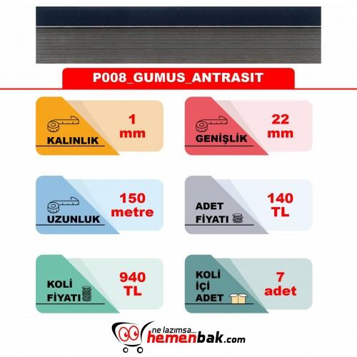 ÇİFT RENK PVC - P008 GUMUS ANTRASIT