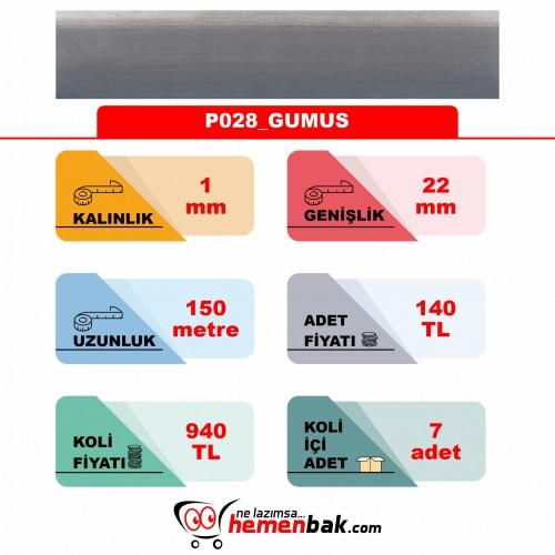 ÇİFT RENK PVC - P028 GUMUS