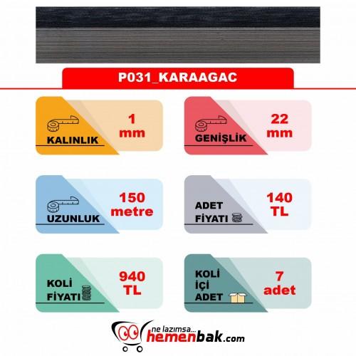ÇİFT RENK PVC - P031 KARAAGAC