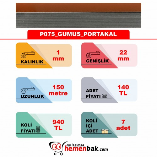 ÇİFT RENK PVC - P075 GUMUS PORTAKAL